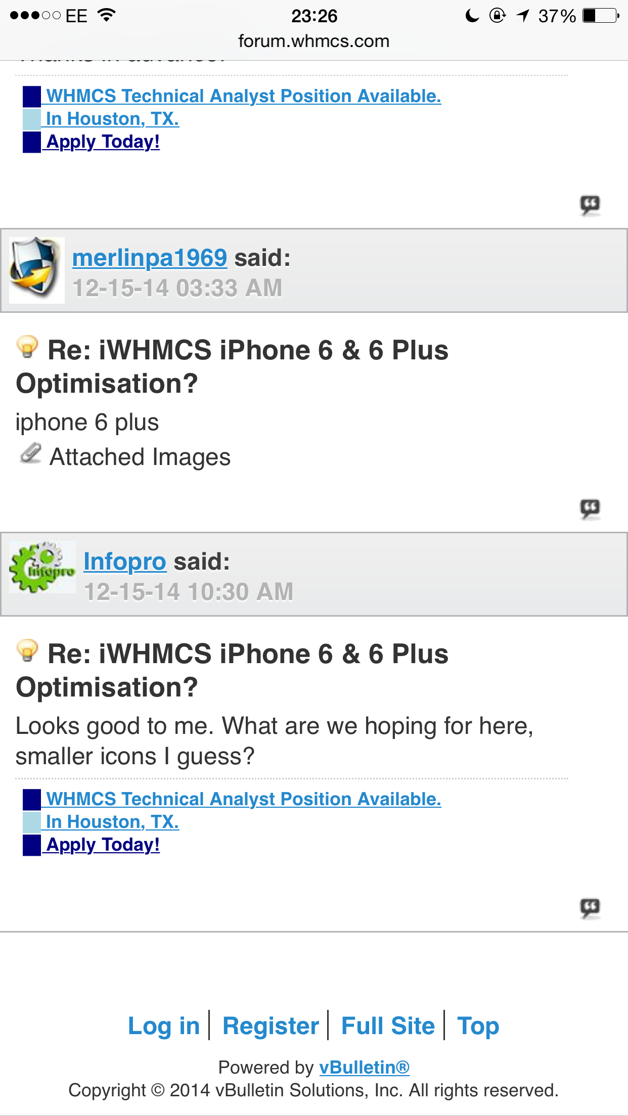 iWHMCS iPhone 6 & 6 Plus Optimisation? - Using WHMCS - WHMCS