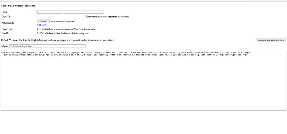 Email Templates Issues After Upgade To 63 Using Whmcs Whmcs