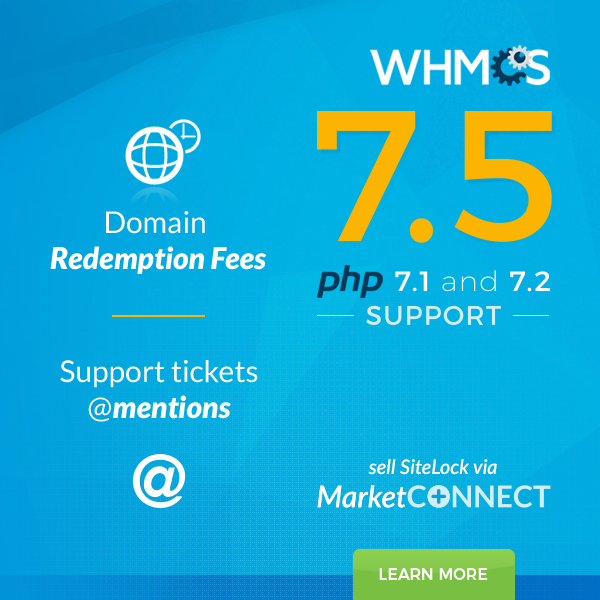 WHMCS 7.5 Beta Now Available