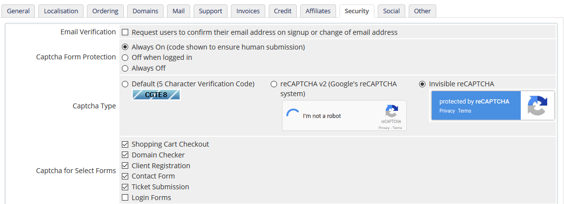 recaptcha invisible domain search field - Troubleshooting Issues