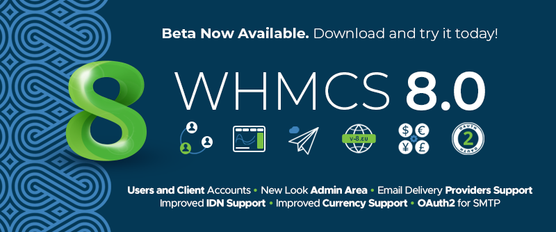 WHMCS 8.0 Beta Now Available