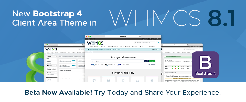 [From the Blog] WHMCS 8.1 Beta Now Available